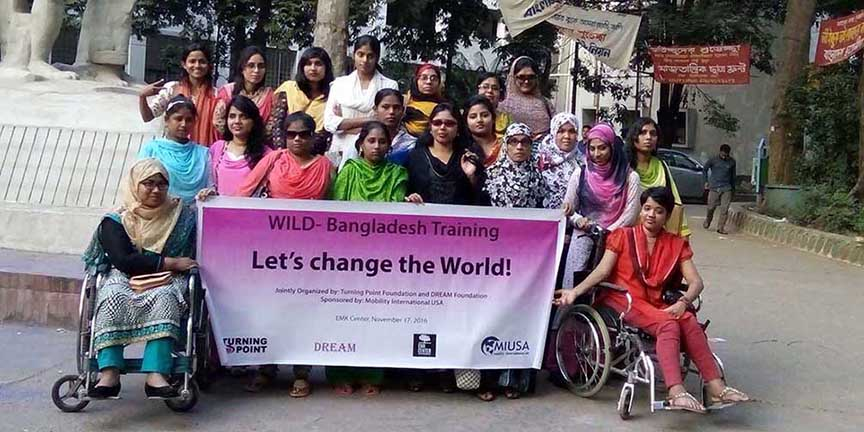 The participants of the Wild Bangladesh training, all are women with disabilities