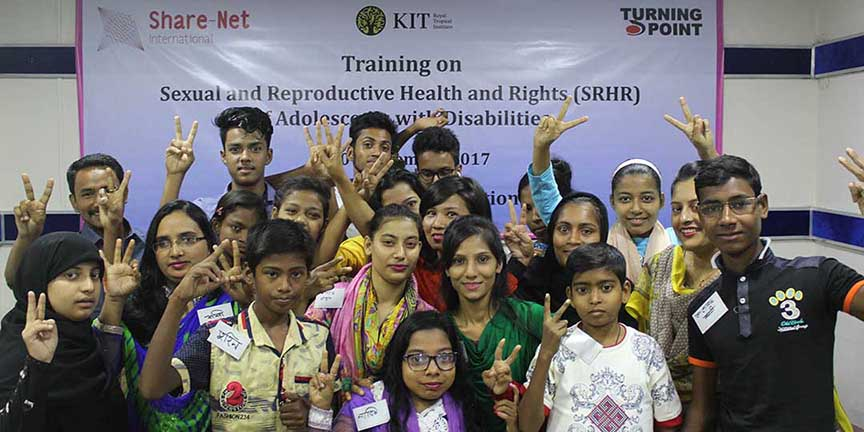 The Adolescents participants in the Training on Sexual and Reproductive Health and Rights (SRHR)