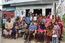 A group photo during a visit to a grassroots DPO