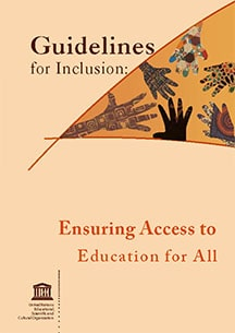 Cover of the Guidelines for Inclusion: Ensuring Access to Education for All