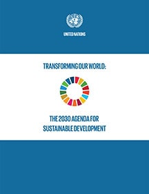 Cover of the 2030 Agenda for Sustainable Development